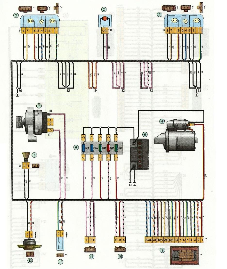 Схема подключения сигнализации на мицубиси