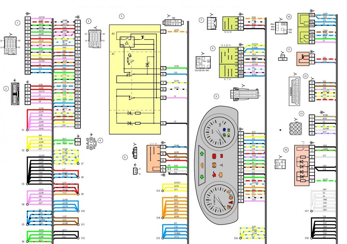 схема электростеклоподъемников лада гранта